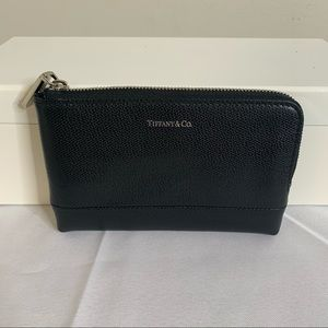 Tiffany & Co. Leather zip around pouch - Black New